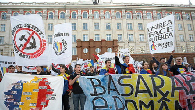 Marșul Unirii a fost blocat de Partidul Patrioţii Moldovei