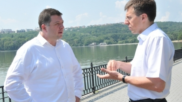 Dorin Chirtoacă și Gigi Ugulava au inspectat șantierele aflate în construcție