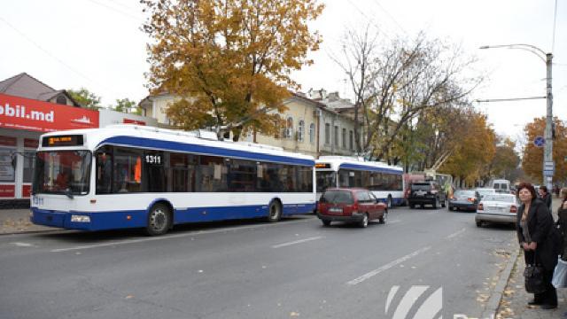 Circulația transportului prin centrul Capitalei este sistată