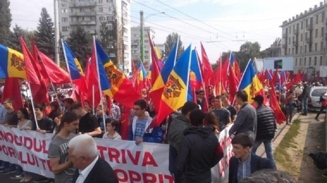 """Protest de amploare organizat de PSRM și """"Partidul Nostru"""""""