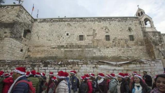 Mii de creștini din toată lumea s-au adunat la Betleem pentru festivitățile de Crăciun