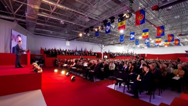 Congresul al XIV-lea Extraordinar al PSRM a început cu un film despre activitatea recentă a socialiștilor