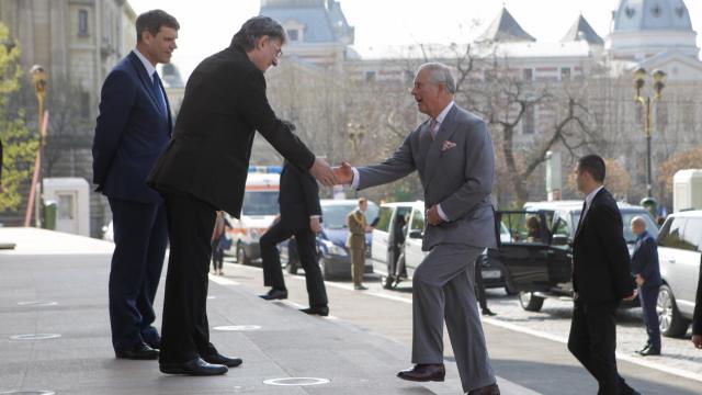 Prinţul Charles, în Centrul Vechi al Bucureştiului