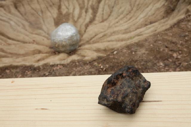 Un meteorit extrem de rar, descoperit pe teritoriul României, poate fi admirat în cadrul unei expoziţii (FOTO)