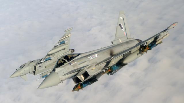 Aeronavele britanice Typhoon au ajuns în România