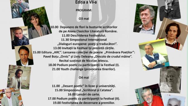 """Cea de-a VII-a ediție a Festivalului Internațional """"Primăvara Europeană a Poeților"""