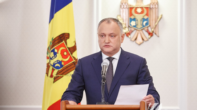 Igor Dodon va merge luni la Baza militară de instruire a Armatei Naționale de la Bulboaca