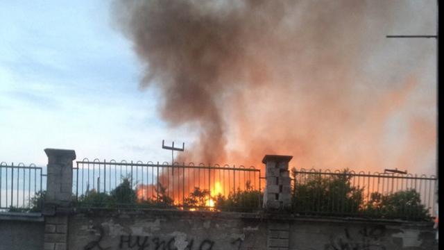 FOTO   Incendiul de pe Stadionul Republican din Capitală a fost lichidat