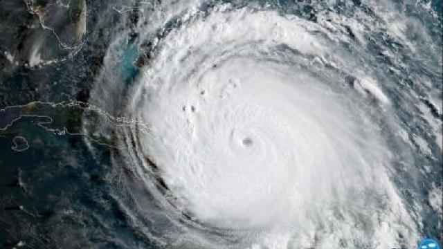 NASA | Imagine geocoloră a uraganului Irma, capturată de satelitul GOES-16