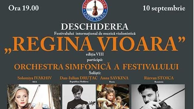 """La Chișinău se desfășoară cea de-a VIII-a ediţie a Festivalului internaţional de muzică violonistică """"Regina Vioară"""""""