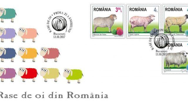 FOTO   Rase de oi din România ilustrate pe mărcile poștale