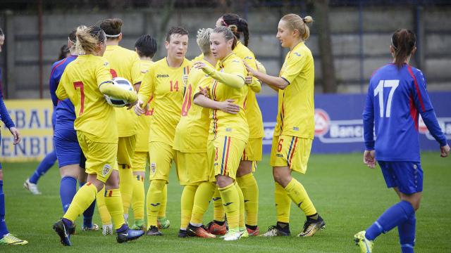Naționala feminină de fotbal a R.Moldova a fost învinsă de România (VIDEO)