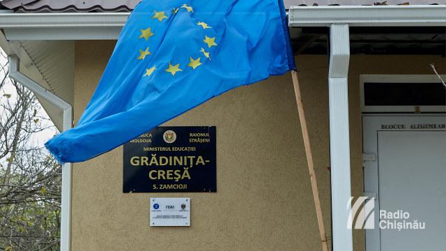 FOTO | Grădinița din satul Zamcioji, raionul Strășeni, a fost renovată cu sprijinul României