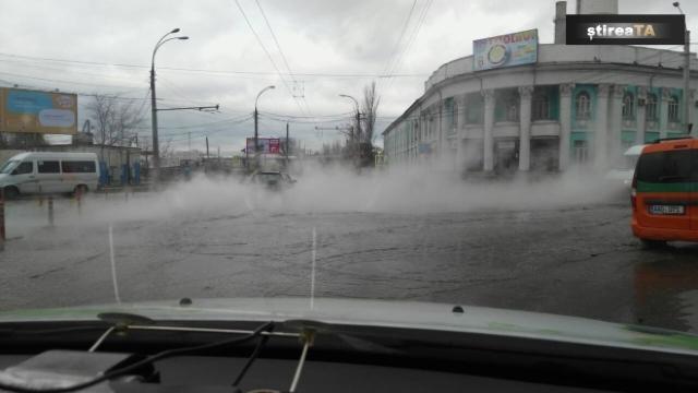 Chișinău   O conductă termică din strada Vadul lui Voda a fost puternic avariată