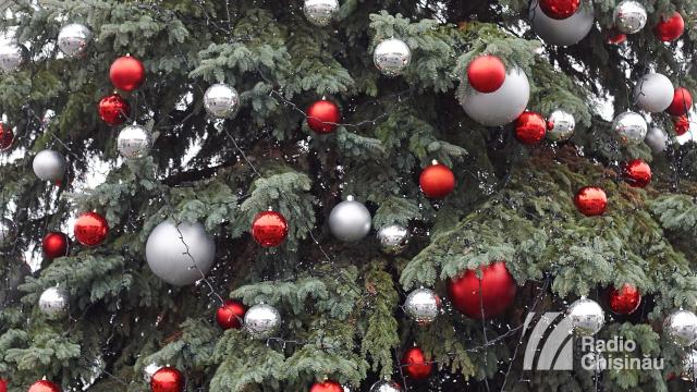 FOTO | Cum arată pomul de Crăciun, instalat în Piața Marii Adunări Naționale