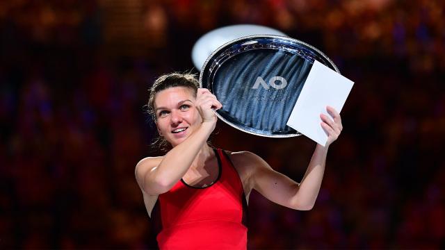 Simona Halep, desemnată jucătoarea lunii ianuarie în circuitul WTA
