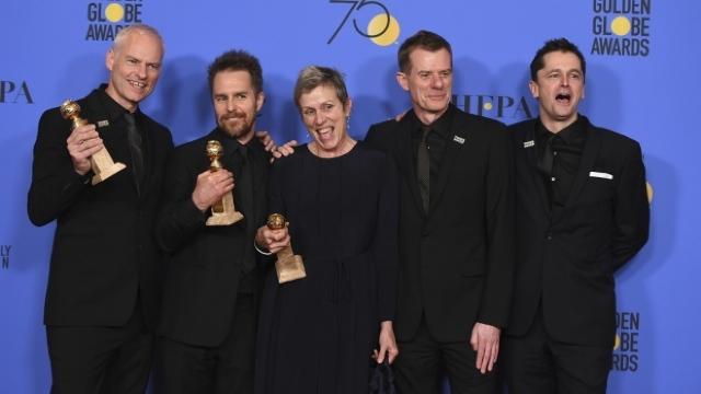 """Filmul de dramă """"Three Billboards"""" este considerat marele câştigător al premiilor Globurile de Aur"""