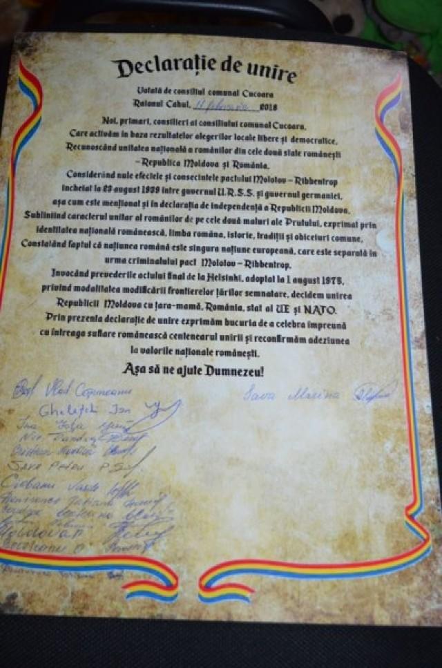 Deja 20 - Și comuna Cucoara din raionul Cahul vrea Unirea