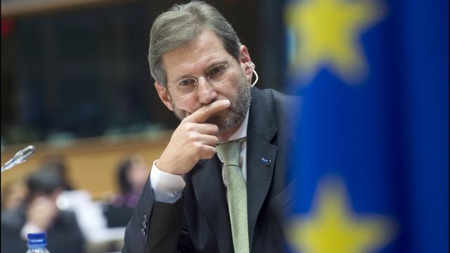 Tudor Ulianovschi și Johannes Hahn, briefing de presă comun la Bruxelles