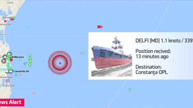 UPDATE | O navă din R.Moldova a fost salvată în Marea Neagră şi tractată în Portul Constanţa