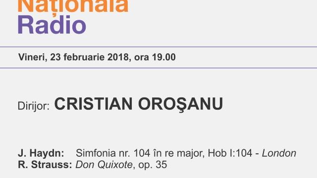 Don Quijote de Richard Strauss, cu Orchestra Națională Radio, online, în direct