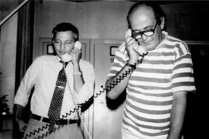 Mihai Junea (Radio Timişoara) cu Paul Grigoriu la Radio Cluj – 8 iulie 1993