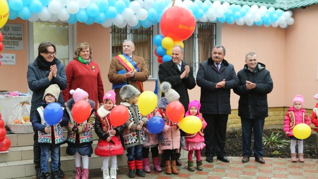 Inaugurare | O nouă grădiniță renovată din banii României, la Zastânca, Soroca (FOTO)