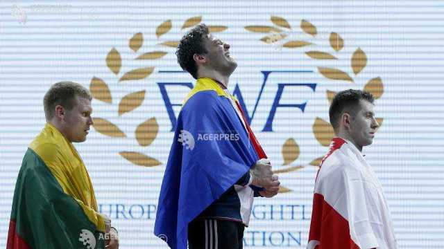 CE 2018 de haltere | Nicolae Onică a câştigat două medalii de aur la total şi aruncat, categoria 94 de kg