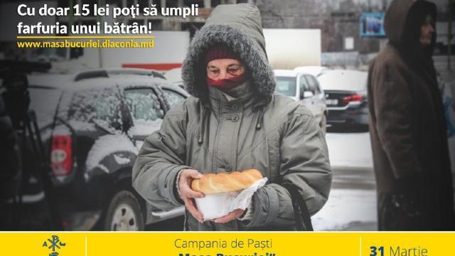"""Misiunea Socială """"Diaconia"""" a Mitropoliei Basarabiei lansează campania """"Masa Bucuriei"""""""