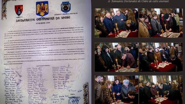 Prima parohie din România a semnat Declarația de ReUnire