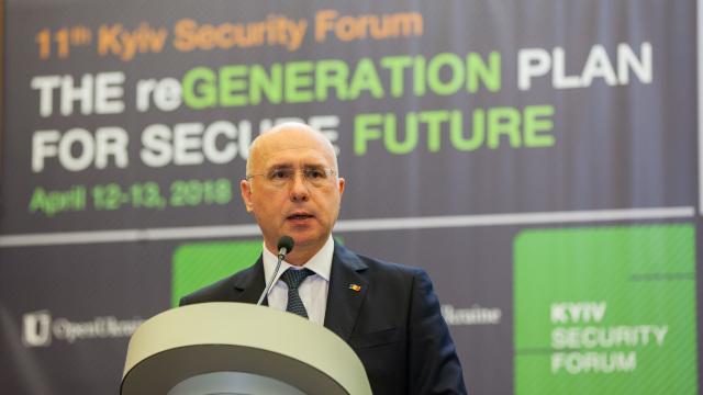 Pavel Filip: Prezenţa militară străină este un obstacol serios în calea soluţionării paşnice a conflictelor