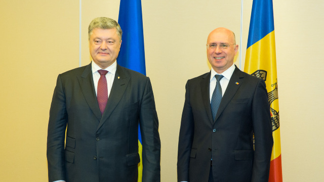 VIDEO   Petro Poroșenko l-a salutat în limba română pe Pavel Filip