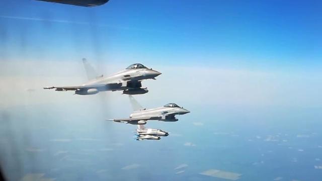 VIDEO   Cum au venit britanicii cu avioane Eurofighter Typhoon să ajute în misiunile de poliție aeriană deasupra României