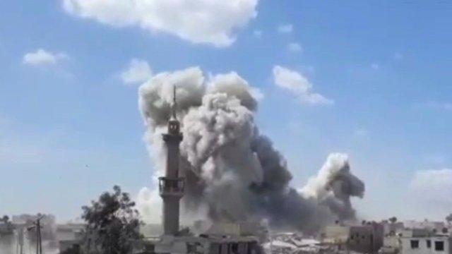 SIRIA | SUA, Franța și Marea Britanie au lansat atacuri aeriene asupra unor baze militare din Damasc