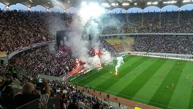 7 persoane rănite și 57 de persoane cu interdicție de acces la competiții sportive, după un meci Steaua-Rapid la București