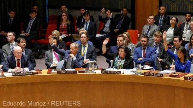 Consiliul de Securitate al ONU a respins rezoluţia propusă de Rusia, care cerea condamnarea loviturilor aeriene din Siria