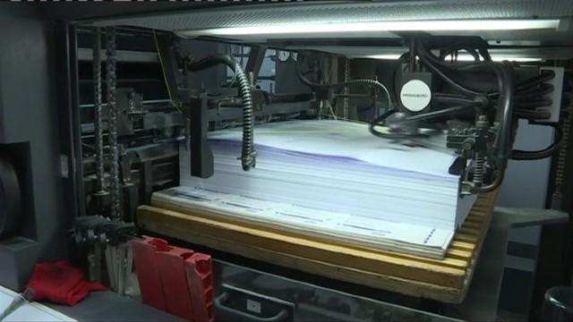 Matrița confecționată pentru tipărirea buletinelor de vot va fi distrusă imediat după utilizarea ei