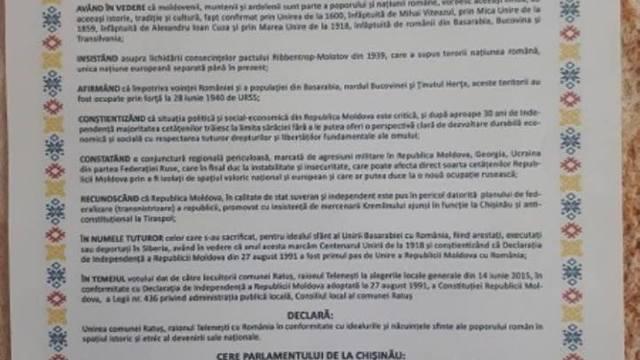 DOC | Încă o localitate a semnat Declarația de Unire (Listă)