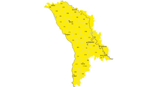 Cod Galben de secetă hidrologică în Republica Moldova