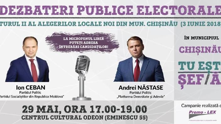 PROMO-LEX   Dezbatere publică electorală în contextul turului II al alegerilor locale noi din Chișinău