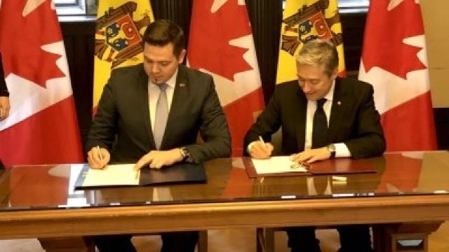 VIDEO | R.Moldova și Canada au semnat Acordul privind promovarea și protejarea reciprocă a investițiilor