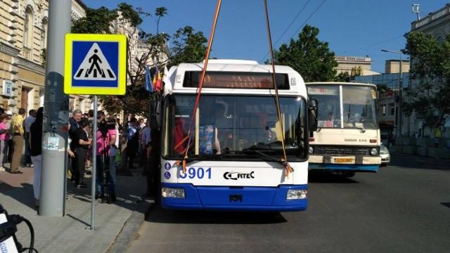 Circulația troleibuzelor cu nr. 2, 10 și 24 a fost reluată pe traseul obișnuit