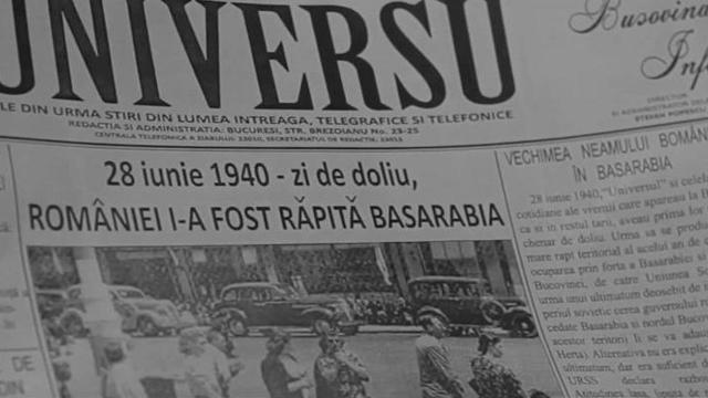 78 de ani de la anexarea Basarabiei si Nordului Bucovinei la Uniunea Sovietică