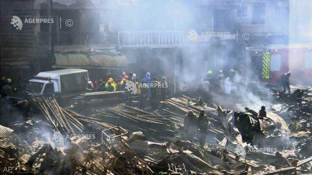 Incendiu la cel mai mare târg sub cerul liber din Nairobi, au ars 15 persoane și alte peste 70 au fost rănite