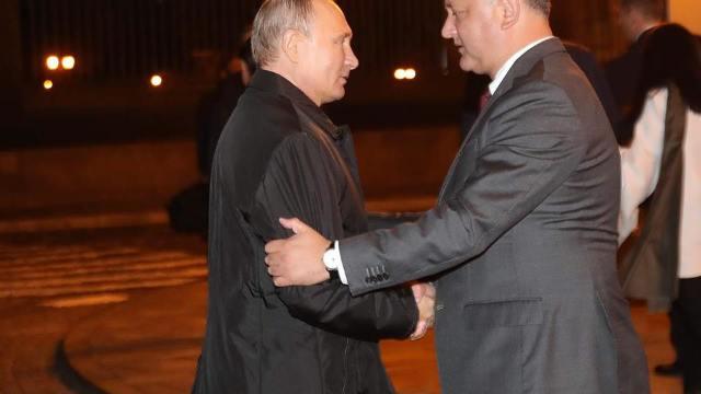 Igor Dodon, în vizită la Moscova. Președintele a avut o întrevedere cu Patriarhul Kiril