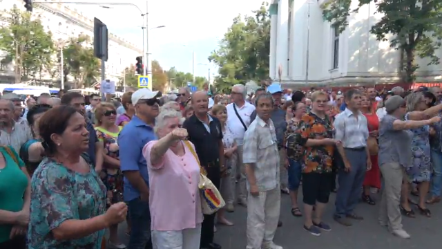 Protestul în susținerea primarului ales Andrei Năstase s-a încheiat (VIDEO)