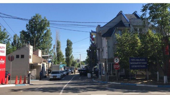Traseu aglomerat înspre un post vamal de pe teritoriul Ucrainei