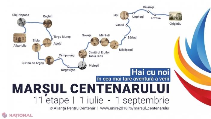 Marșul Centenarului pornește duminică de la Alba Iulia, la Chișinău