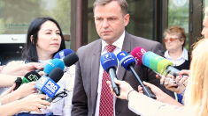 Susţinătorii Partidului Şor au întrerupt conferinţa de presă a lui Andrei Năstase