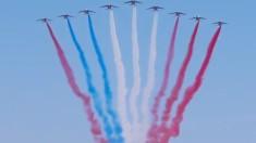 VIDEO | GAFĂ la parada de Ziua Naţională a Franţei. Aviatorii au încurcat culorile drapelului național